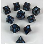 ダイス/サイコロ 斑 Polyhedral(多面体) Blue Stars 10個セット
