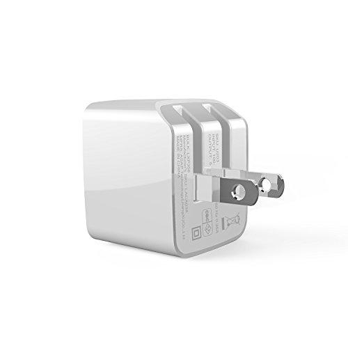 VOXON 急速充電器 ACアダプター 2ポート USB チャージャー 2.1A出力 コンパクト 折畳式プラグ搭載 持ち運びに便利 iPhone&Android対応 ホワイト