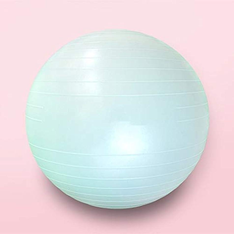 対うなる港元気 エクササイズボール、65センチメートルヨガボール、防爆は、急速なポンプでピラティス出産療法、物理療法家のジムオフィスのボールチェアのためのバランスボールを肥厚しました ヨガのフィットネス、助産の回復 (Color : Light blue, Size : 65cm)
