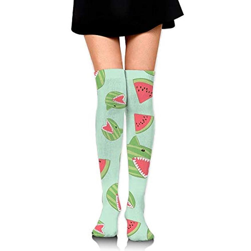 棚愛情深い浸透するMKLOS 通気性 圧縮ソックス Breathable Thigh High Socks Over Exotic Psychedelic Print Compression High Tube Thigh Boot Stockings...