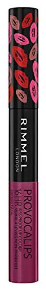 干し草絞る遠征RIMMEL LONDON Provocalips 16Hr Kissproof Lip Colour - Kiss Fatal (並行輸入品)