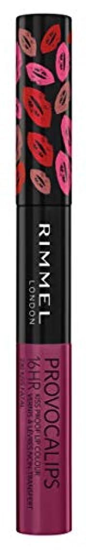 寄り添う容器型RIMMEL LONDON Provocalips 16Hr Kissproof Lip Colour - Kiss Fatal (並行輸入品)