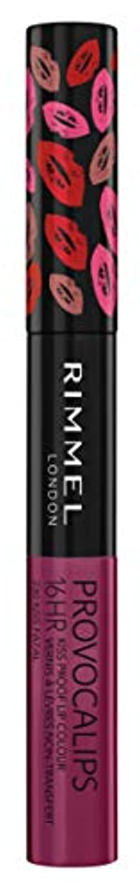 ワーディアンケースポップ混乱RIMMEL LONDON Provocalips 16Hr Kissproof Lip Colour - Kiss Fatal (並行輸入品)