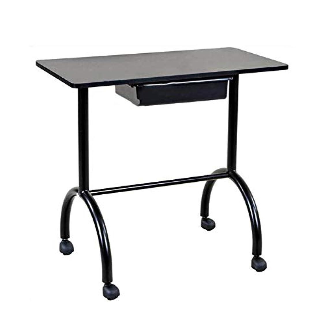 確かな金銭的ゲインセイネイルテーブルポータブルマニキュアテーブルベントネイルデスクワークステーションサロンスパネイルアートビューティーサロン備品黒