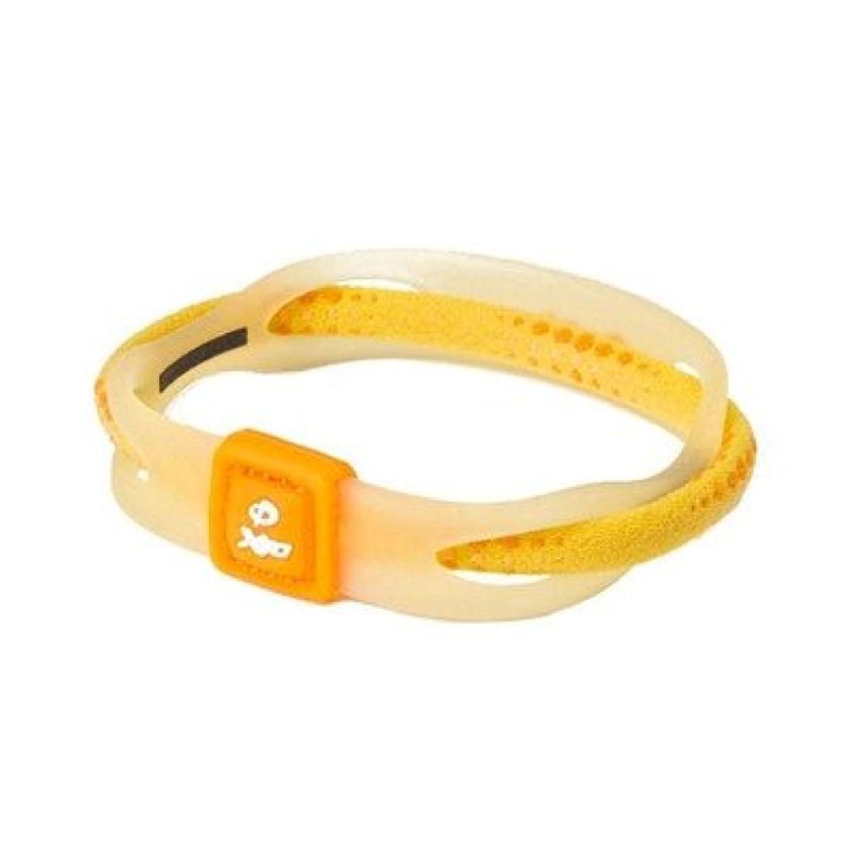 伝染性精緻化モールス信号Phiten(ファイテン) RAKUWA ブレス X50 イエロー 17CM TG497325[通販用梱包品]