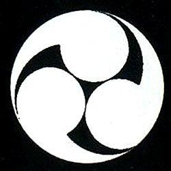 家紋シール 張り紋 黒紋付用 日向紋 3.9cm 6枚組 左三つ巴(丸なし)