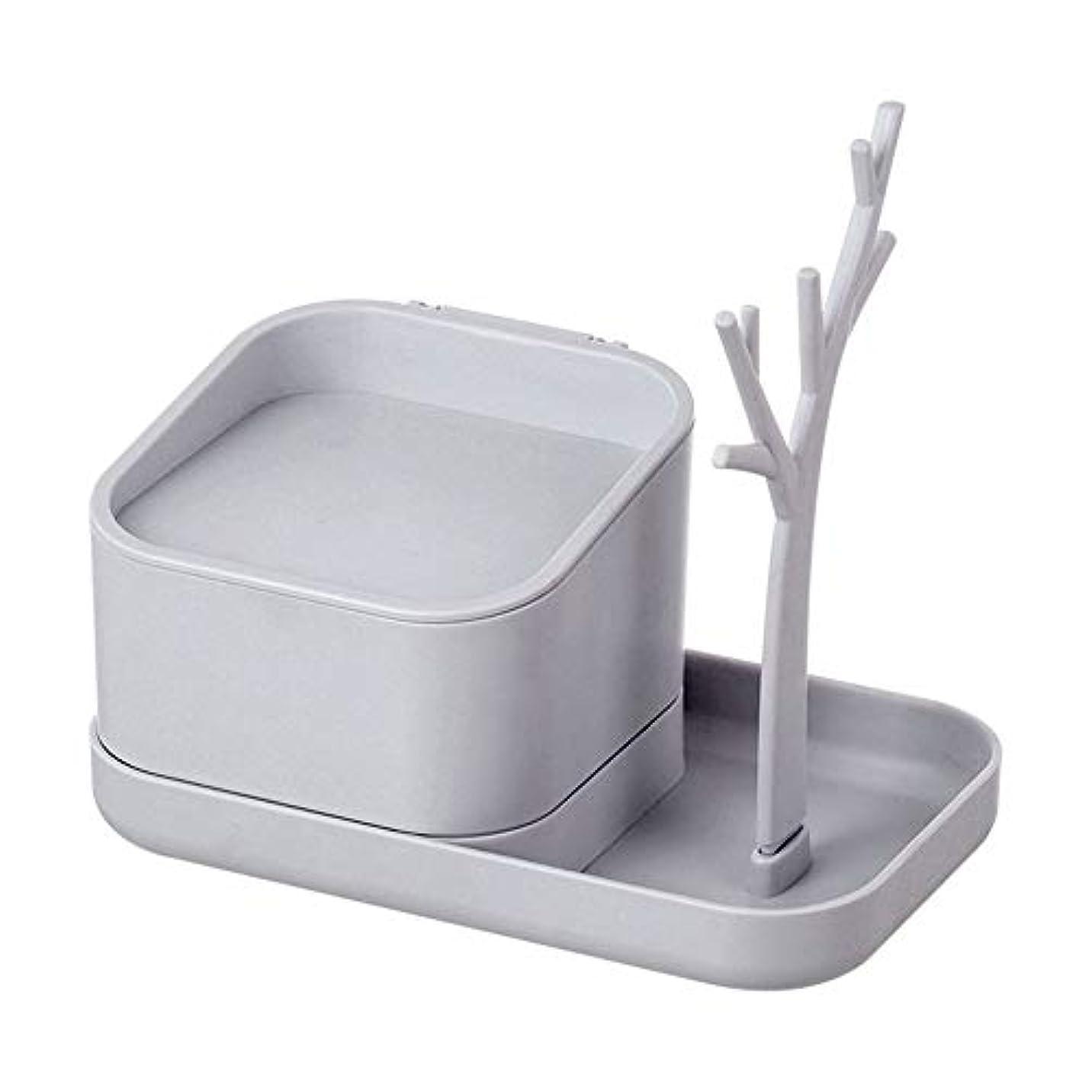 エイリアンクアッガサワー化粧品収納ボックス、デスクトップ多機能収納ボックス、化粧品/ヘアアクセサリー/マスク/ジュエリー/ストレージに適しています,White