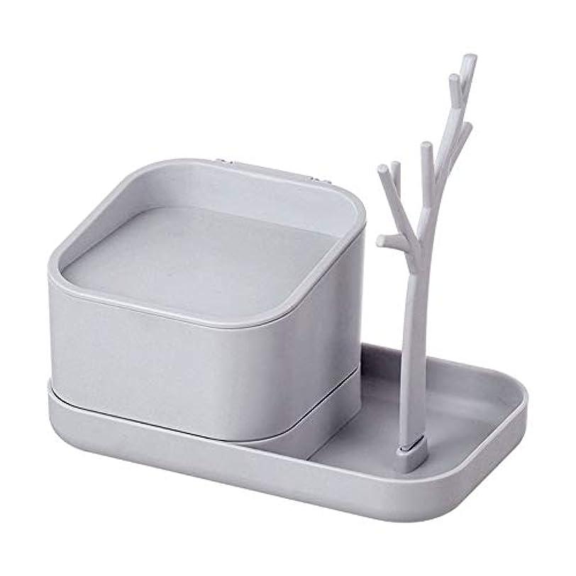 王位インタビュー光化粧品収納ボックス、デスクトップ多機能収納ボックス、化粧品/ヘアアクセサリー/マスク/ジュエリー/ストレージに適しています,White