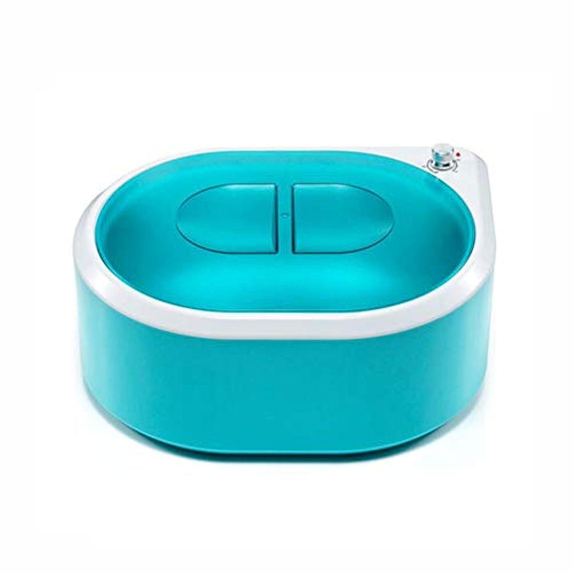 自分のために対称自発フェイスケアハンドケアフットケア&脱毛の熱パラフィン浴熱療法用ワックスヒーター機,グリーン