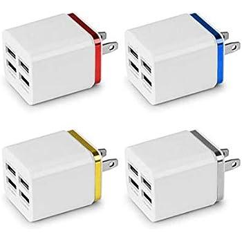 GOIOD USB急速充電器 40W 4ポート USB急速充電器 iPhone、Android各種対応 旅行充電器 携帯電話用 1個