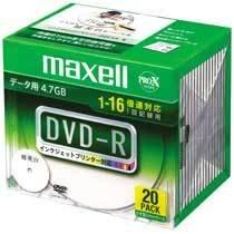 マクセル データ用DVD-R 16速  プリンタブルワイド 20枚パック DR47WPD.S1P20SA
