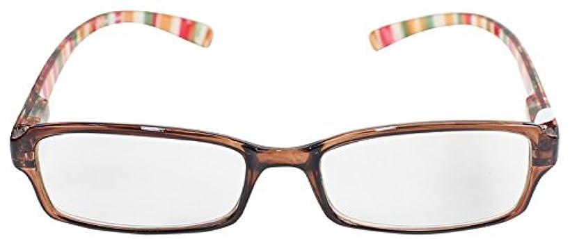 フィールドワーク 老眼鏡 ブルーライトカット レディース +1.5 度数 ラジル 首掛け ブラウン AN078-CL+1.5