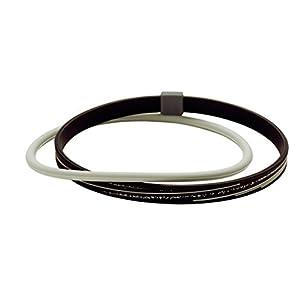 ファイテン(phiten) RAKUWA アンクレット S スラッシュライン ラメタイプ ブラック/グレー 23cm