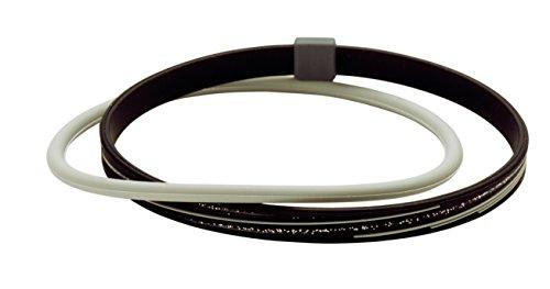 アンクレットS スラッシュラメ ブラック/グレー 21cm 1個 ファイテン