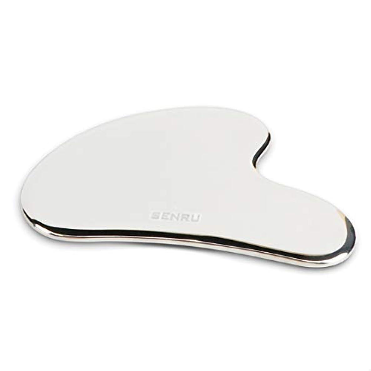 ベスビオ山気をつけて傷つけるステンレスかっさプレート かっさマッサージ 筋膜リリースツール IASTM 顔&体にマッサージ ほうれい線の消すに役立つ 専用Graston物理治療ツール Y型