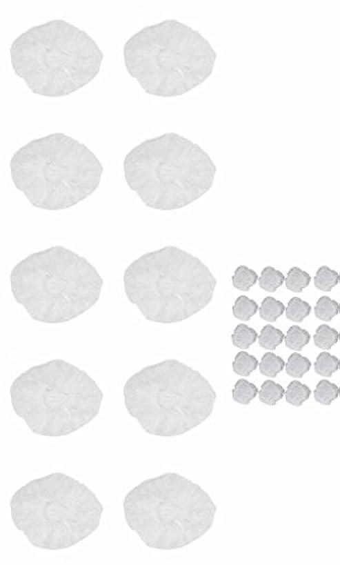 力学収束永続使い捨て イヤーキャップ & ヘッドキャップ 10回分 (ヘアカラー や水濡れ防止に保護に) シャワーキャップ LJ-EC10