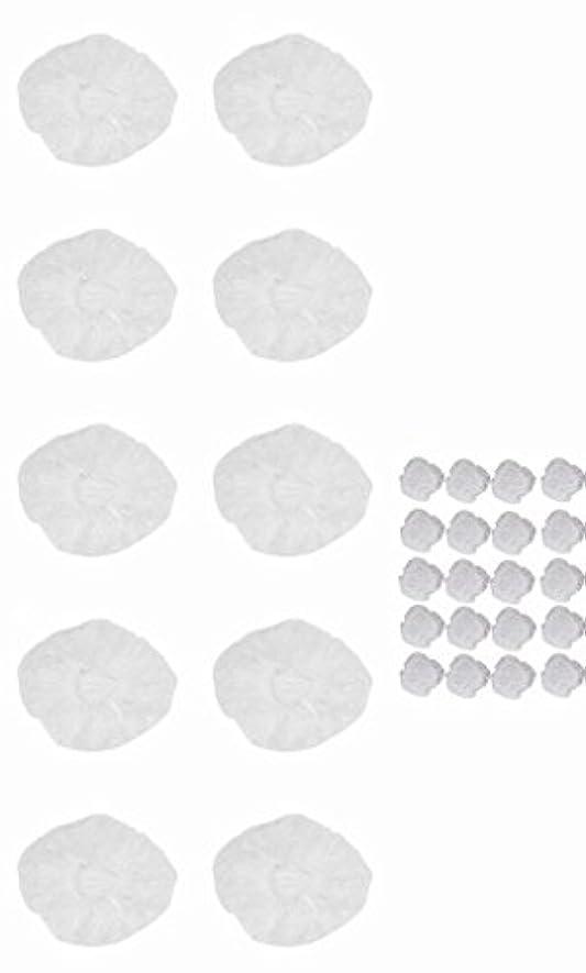 前書きナラーバー因子使い捨て イヤーキャップ & ヘッドキャップ 10回分 (ヘアカラー や水濡れ防止に保護に) シャワーキャップ LJ-EC10