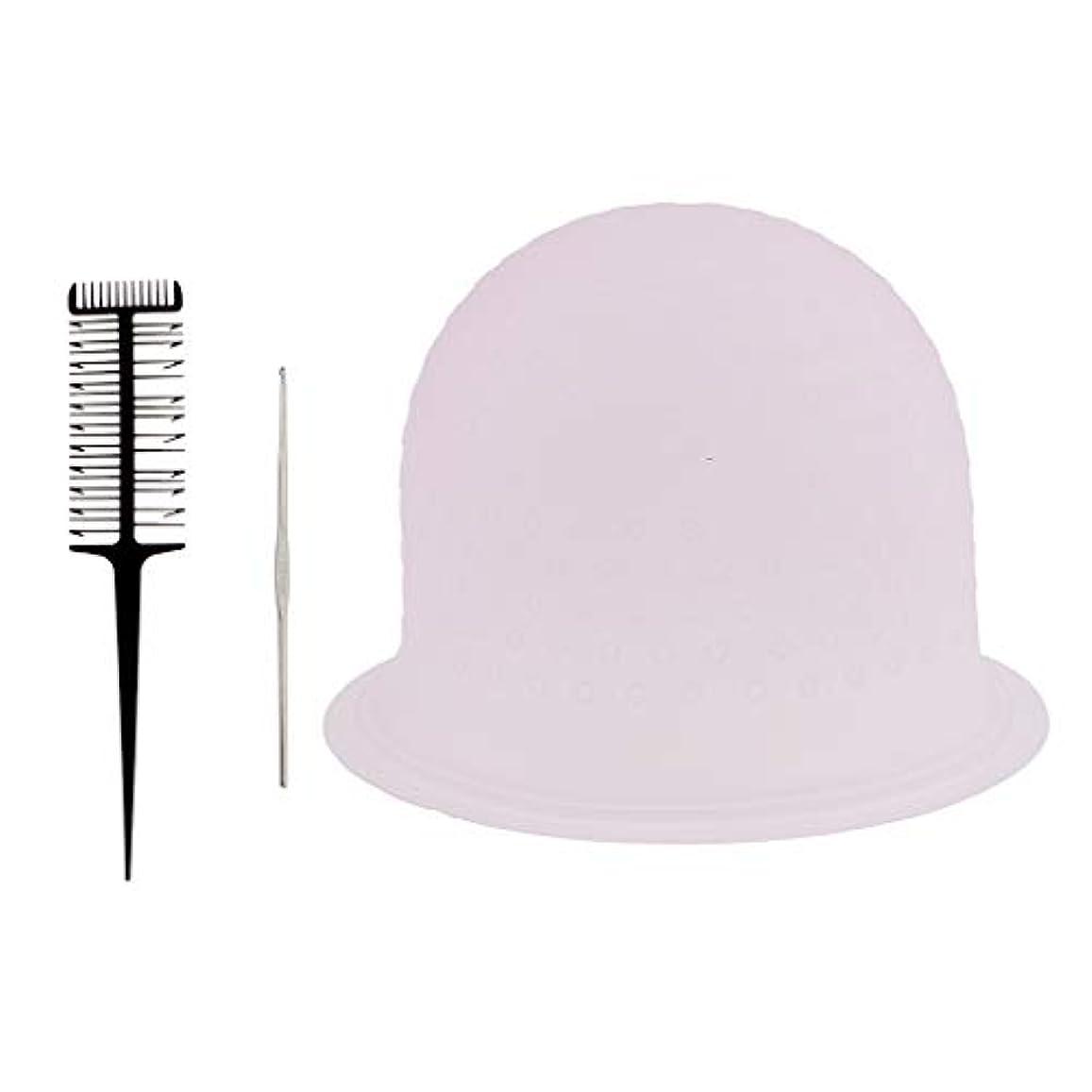 癌途方もない資本DYNWAVE ヘアダイコーム ヘアダイキャップ 髪の色合い メタルフック プラスチック ヘアケア ヘアカラー