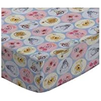 SheetWorld Fitted Cradleシート18 x 36 – コットンパーケール文字Prints – Made in USA CR-W1066