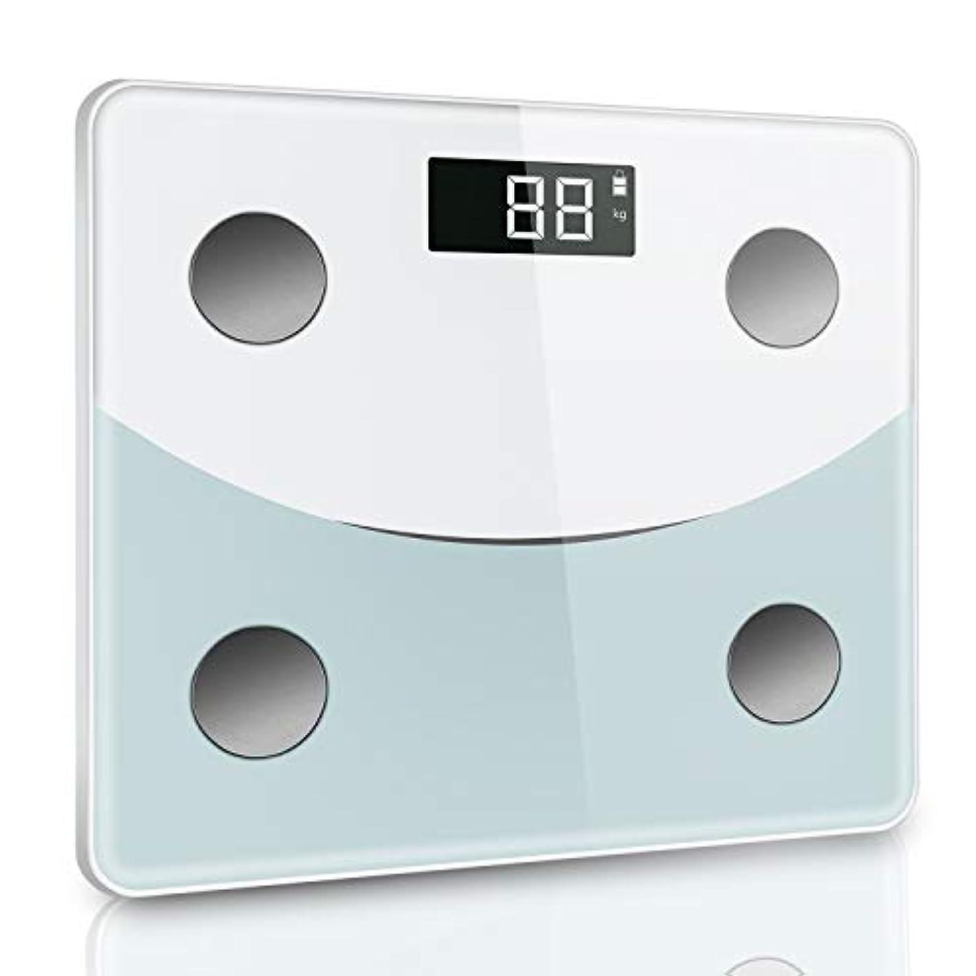 傭兵ガロン用心体重計 体組成計 体脂肪計 デジタル ダイエット Bluetooth対応 アプリで健康管理 BMI 体脂肪率 筋肉量 体水分量 ヘルスメーター 薄型 180 kgまで