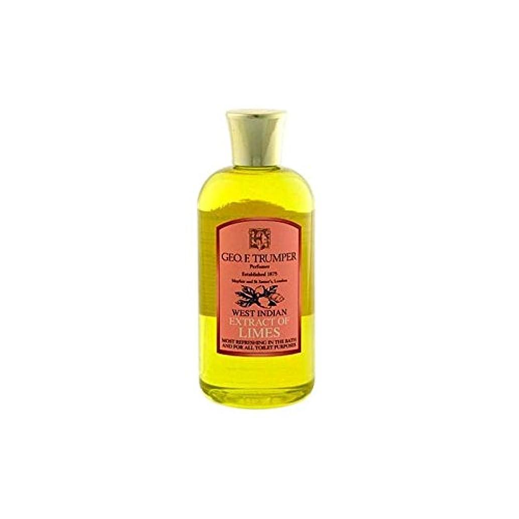 四島代わりにTrumpers Extracts of Limes Bath and Shower Gel 200ml (Pack of 6) - ライムのバスタブとシャワージェル200の抽出物を x6 [並行輸入品]