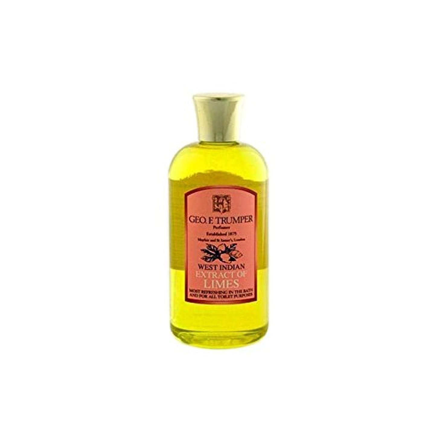 雹くそー健全ライムのバスタブとシャワージェル200の抽出物を x4 - Trumpers Extracts of Limes Bath and Shower Gel 200ml (Pack of 4) [並行輸入品]