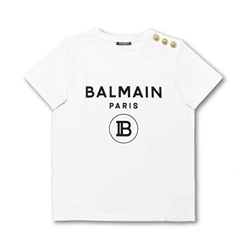 (バルマン) BALMAIN 半袖Tシャツ ホワイト SF11364I193 GAB [並行輸入品]