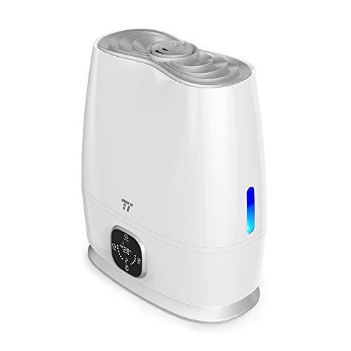 加湿器 TaoTronics 6.0L大容量 温冷ミスト 超音波式 連続運転50時間 ミスト3階段調節 省エネ 湿度コントロ...