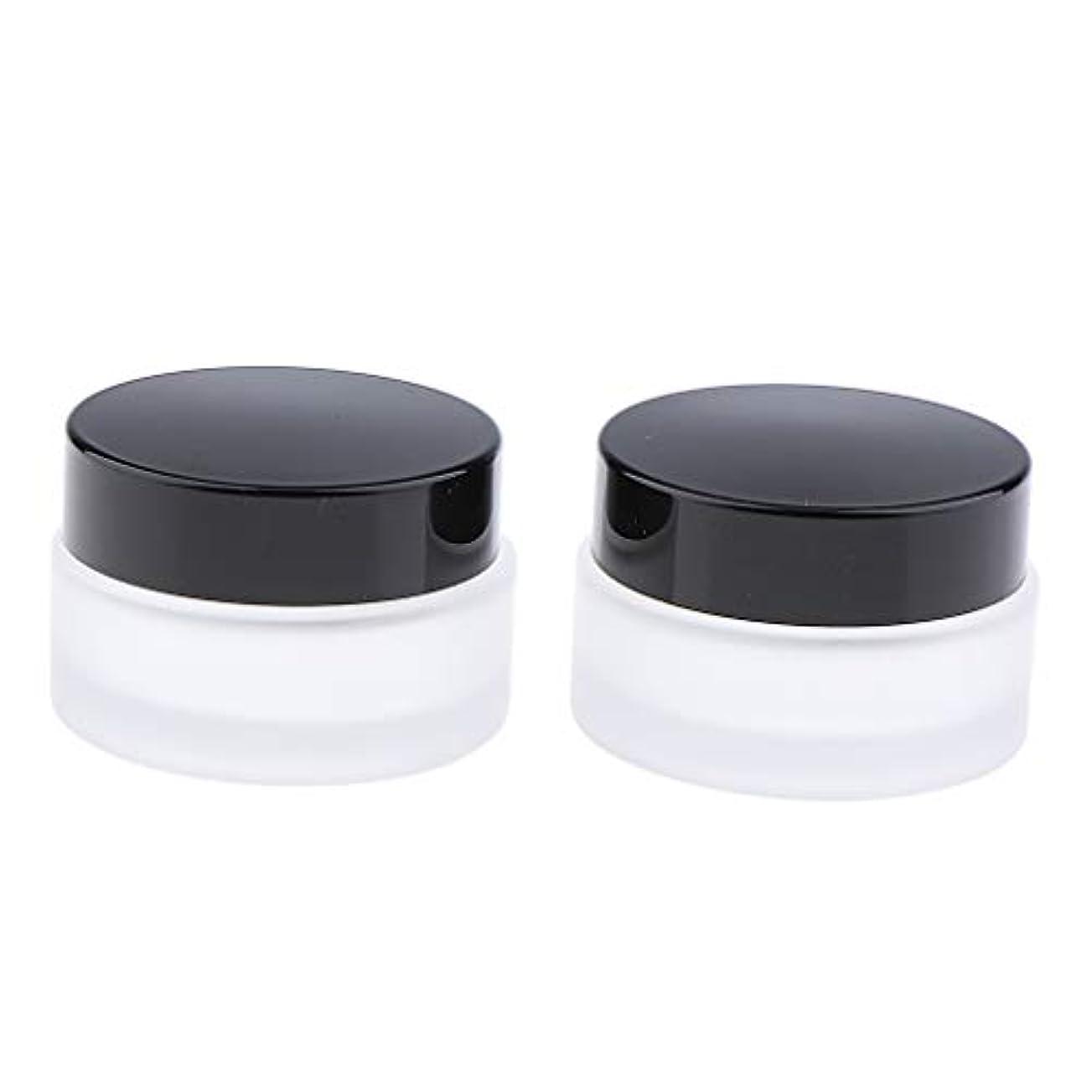 防止流行可動クリーム 容器 ジャー ガラス ボトル 詰替え容器 ローション コンテナ 4サイズ選べ - 30g