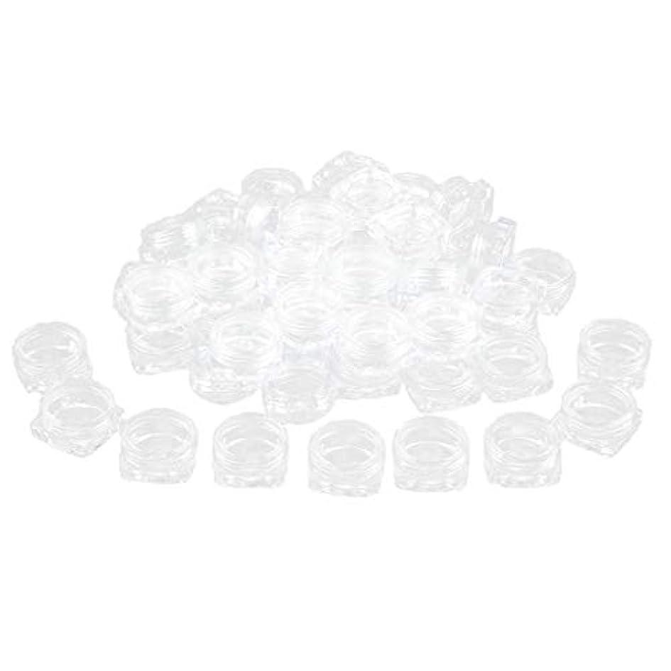 スイッチ養うポルトガル語Perfeclan 約50個 化粧品ジャー 蓋付き 化粧ポット ローションジャー クリーム容器 サンプルボトル - 3g