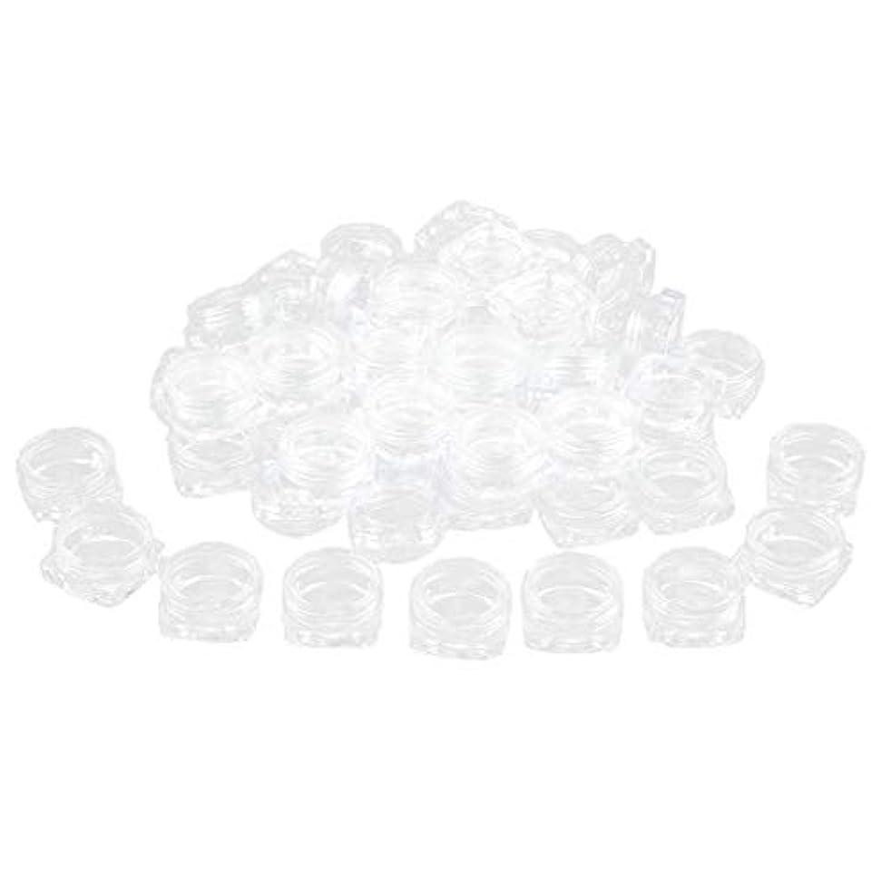 嘆く引く光のFLAMEER 約50個 化粧ポット ローションジャー サンプルボトル コスメ 化粧品 詰替え容器 クリア - 2g