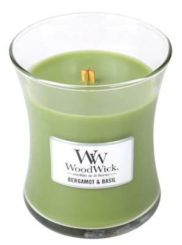 ベルガモットBasil – Woodwick 10oz Medium Jar Candle Burns 100時間