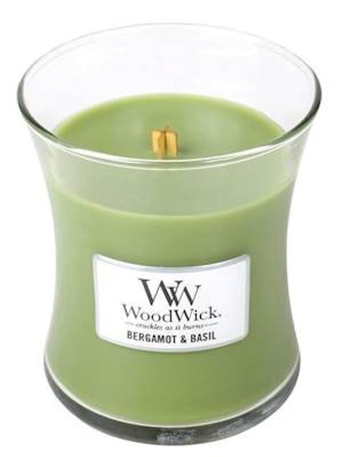 シガレットうつ悲惨なベルガモットBasil – Woodwick 10oz Medium Jar Candle Burns 100時間