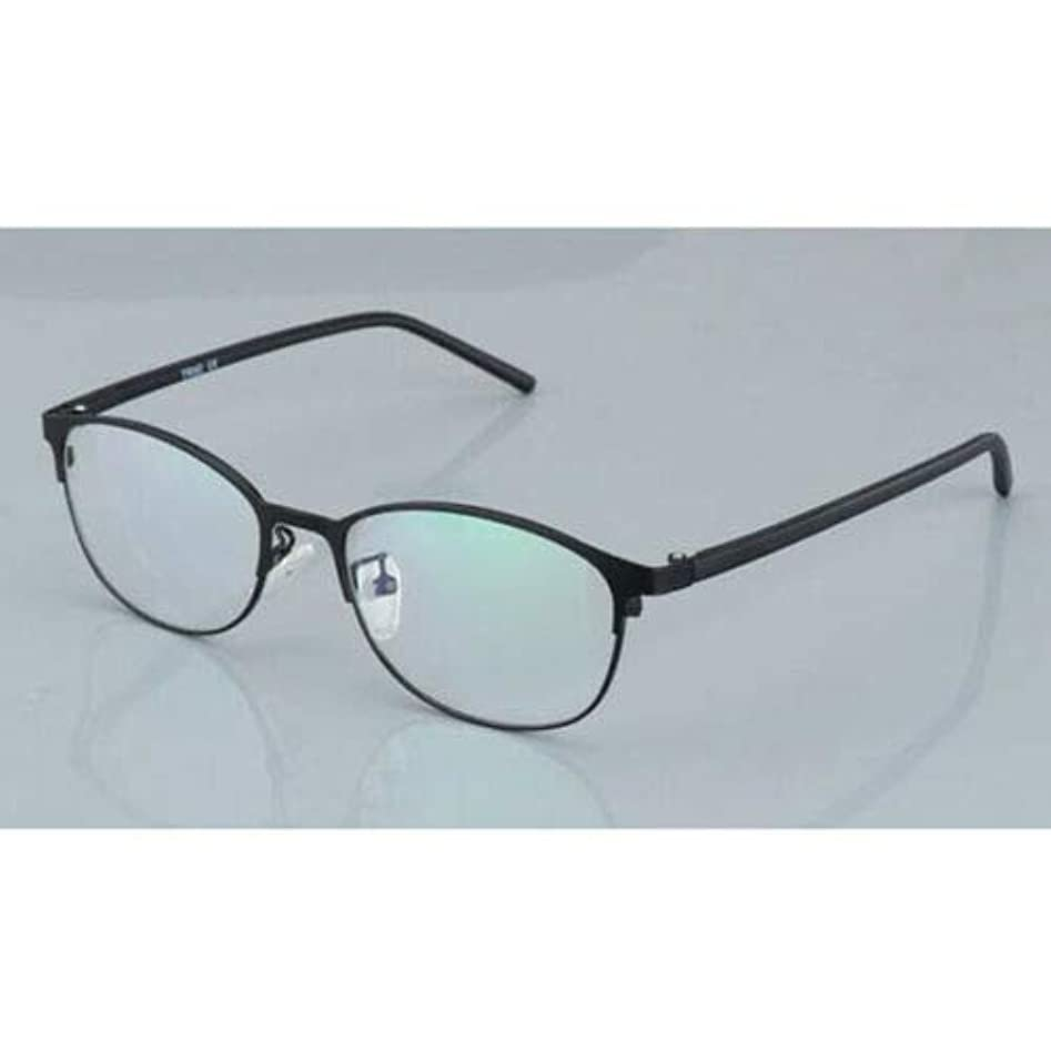 FidgetGear 変色老眼鏡フォトクロミック眼鏡男性サングラスメタルフレーム ブラック