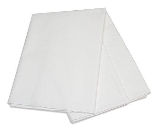 敷きシーツ 業務用フラットシーツ 単品売り 綿100% シングルサイズ ホワイト (150cm×250cm) -