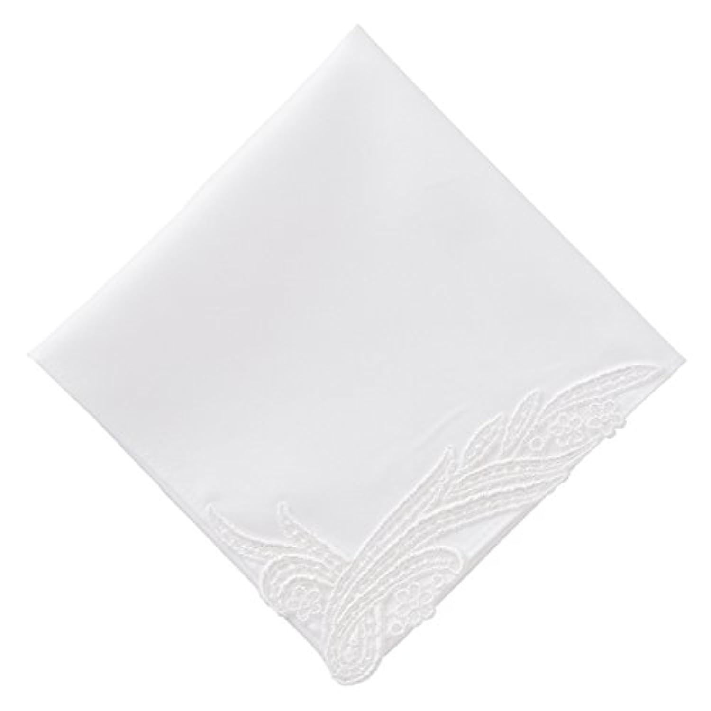 (ハグ ハンカチーフ)hugge handkerchief ハンカチ 白 レディース (ノーブル1枚入) ギフト ブライダル 結婚式 ウェディング