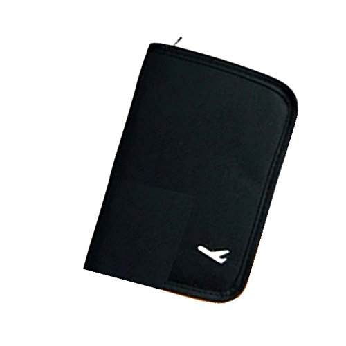 【LudusFelix】パスポートケース 旅行用品 航空券・チケット・小物すっきり収納 男女兼用 コンパクトサイズ 全4色  (ブラック)