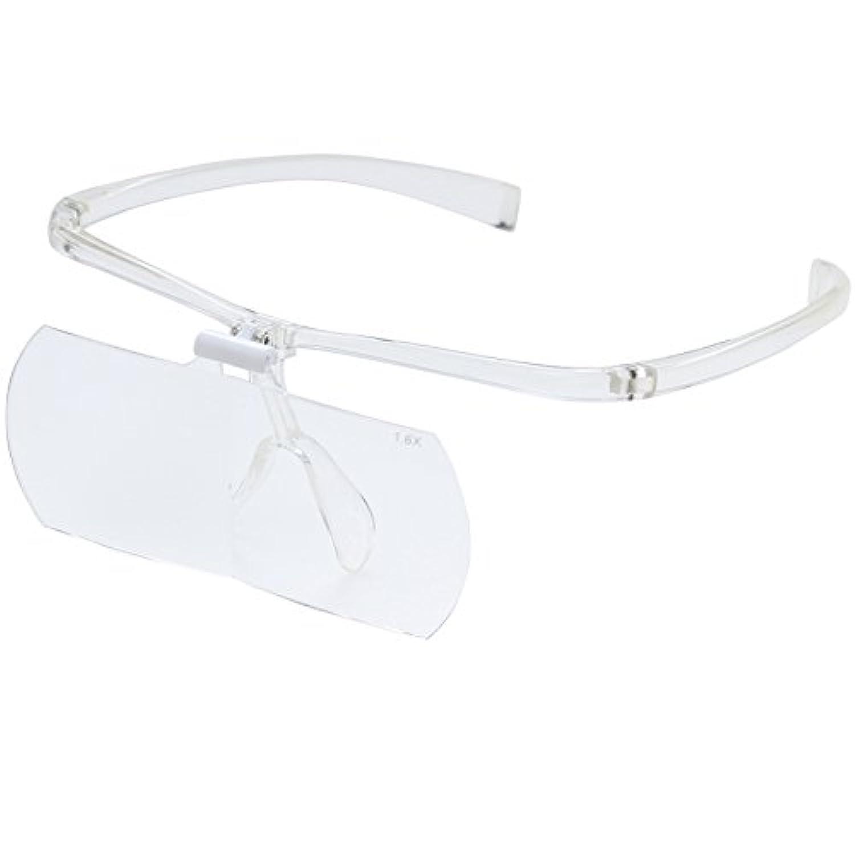 双眼メガネルーペ メガネタイプ 1.6倍 HF-60D※このページは「クリア」のみの販売です◆クリア