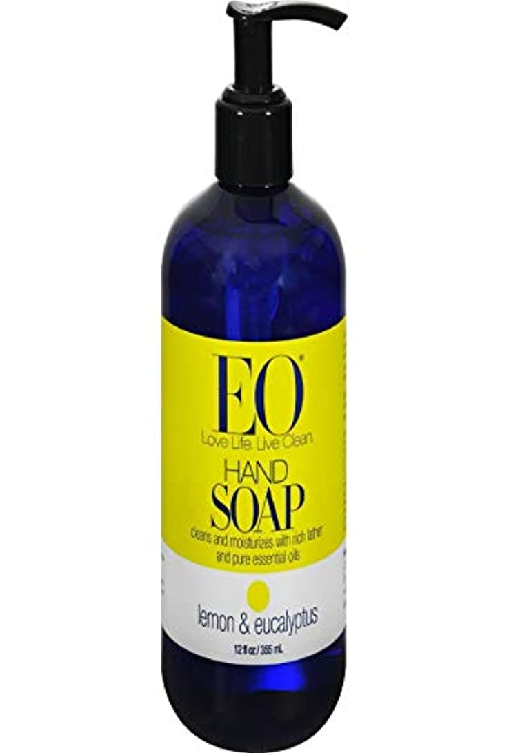 被害者低下徒歩でEO Products, Hand Soap, Lemon & Eucalyptus, 12 fl oz (355 ml)