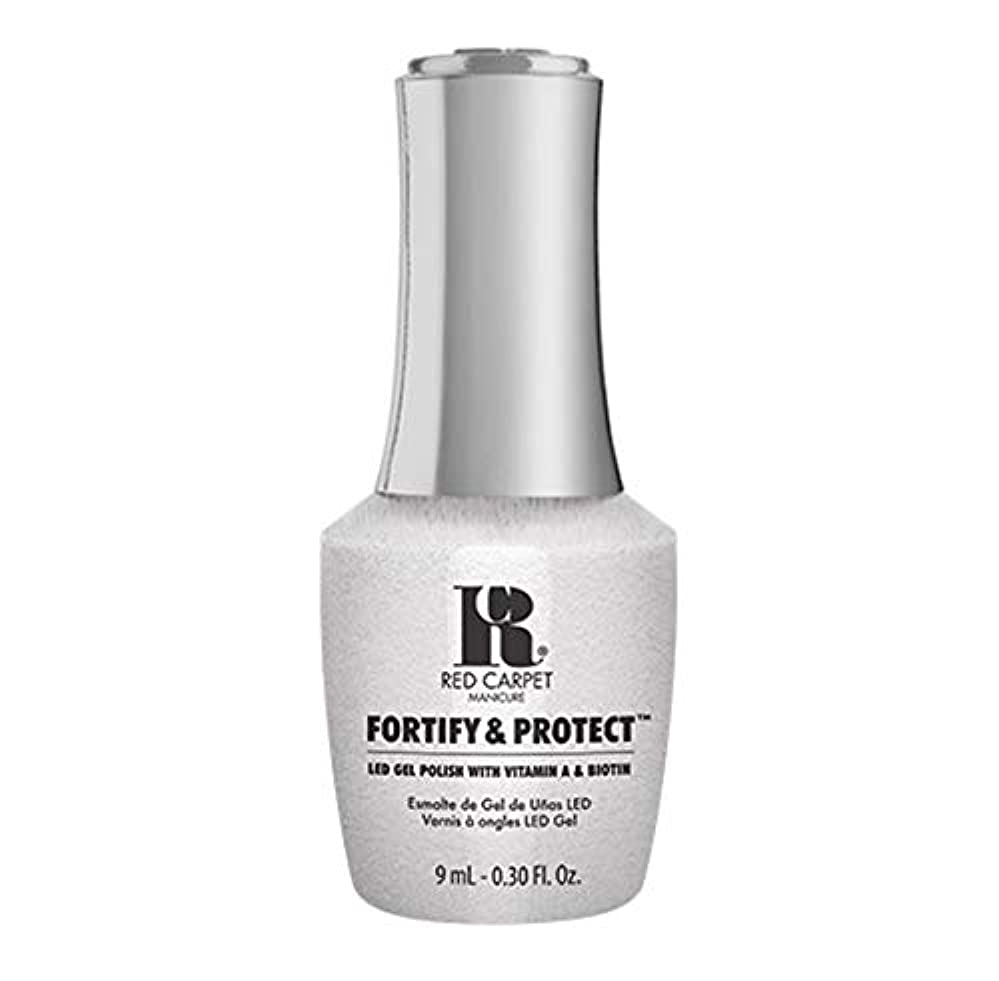 プレミア幻滅清めるRed Carpet Manicure - Fortify & Protect - Co-Starring Color - 9ml / 0.30oz