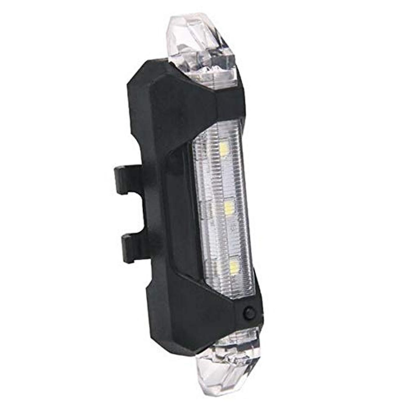 最大の本土測るOpliy 自転車用ライトUSB充電式自転車用テールライト3つのライトモードを備えた強力なLED自転車用テールライトサイクリング用2 USBケーブル安全懐中電灯ヘルメットマウンテンバイク長寿命簡単取り付け 品質保証 (Color : WHITE)