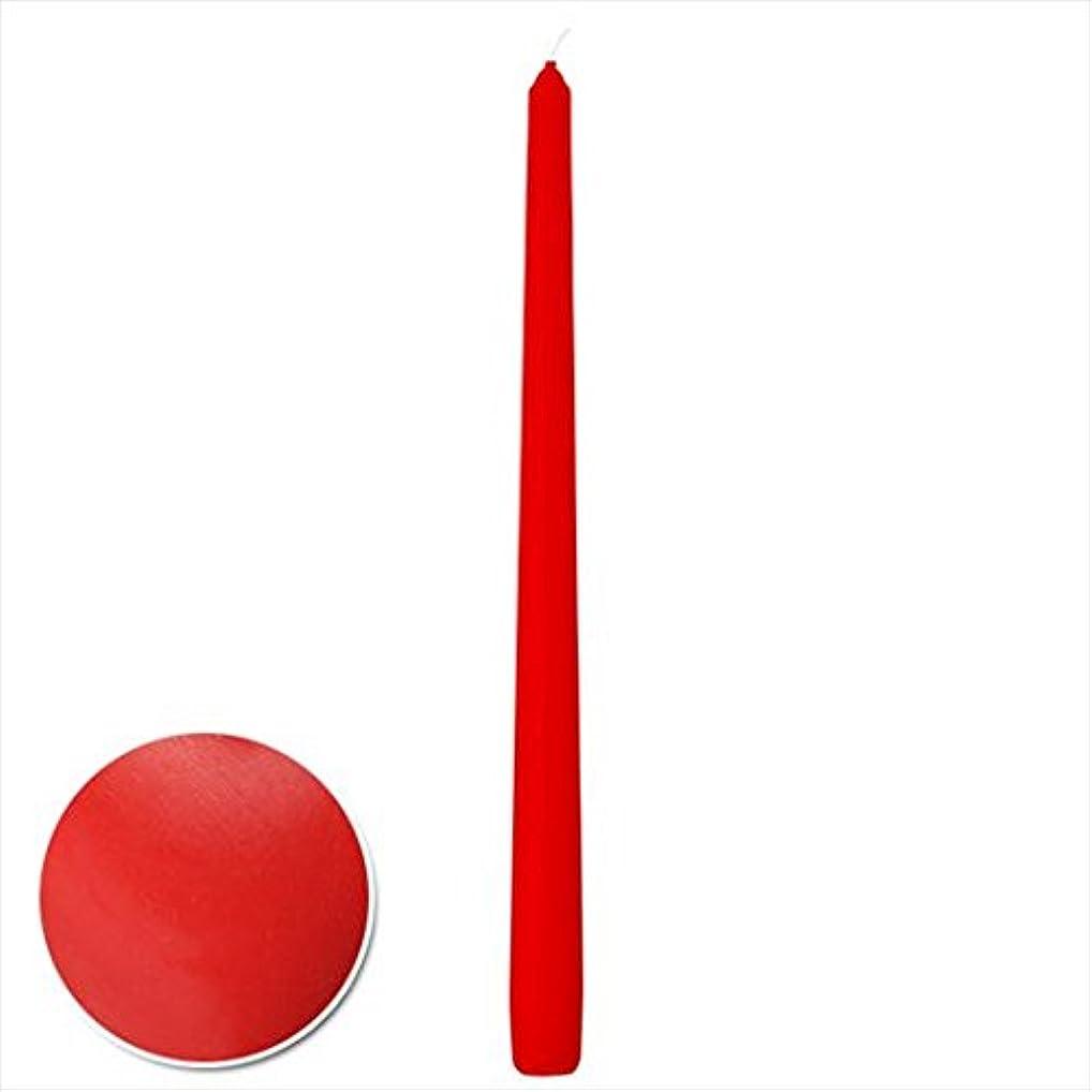 見えない開いた杖カメヤマキャンドル(kameyama candle) 15インチテーパーセロナシ 「 ディッピングレッド 」 12本入り