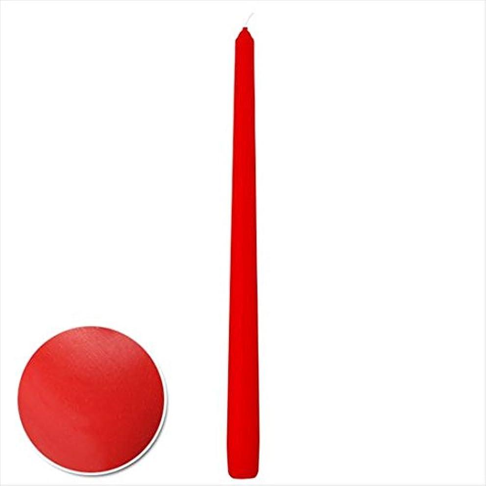 音声初心者余裕があるカメヤマキャンドル(kameyama candle) 15インチテーパーセロナシ 「 ディッピングレッド 」 12本入り