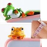 【Tamatebako】 かえるのイヤホンジャック グリーン& オレンジ Frog Green Orange No.1