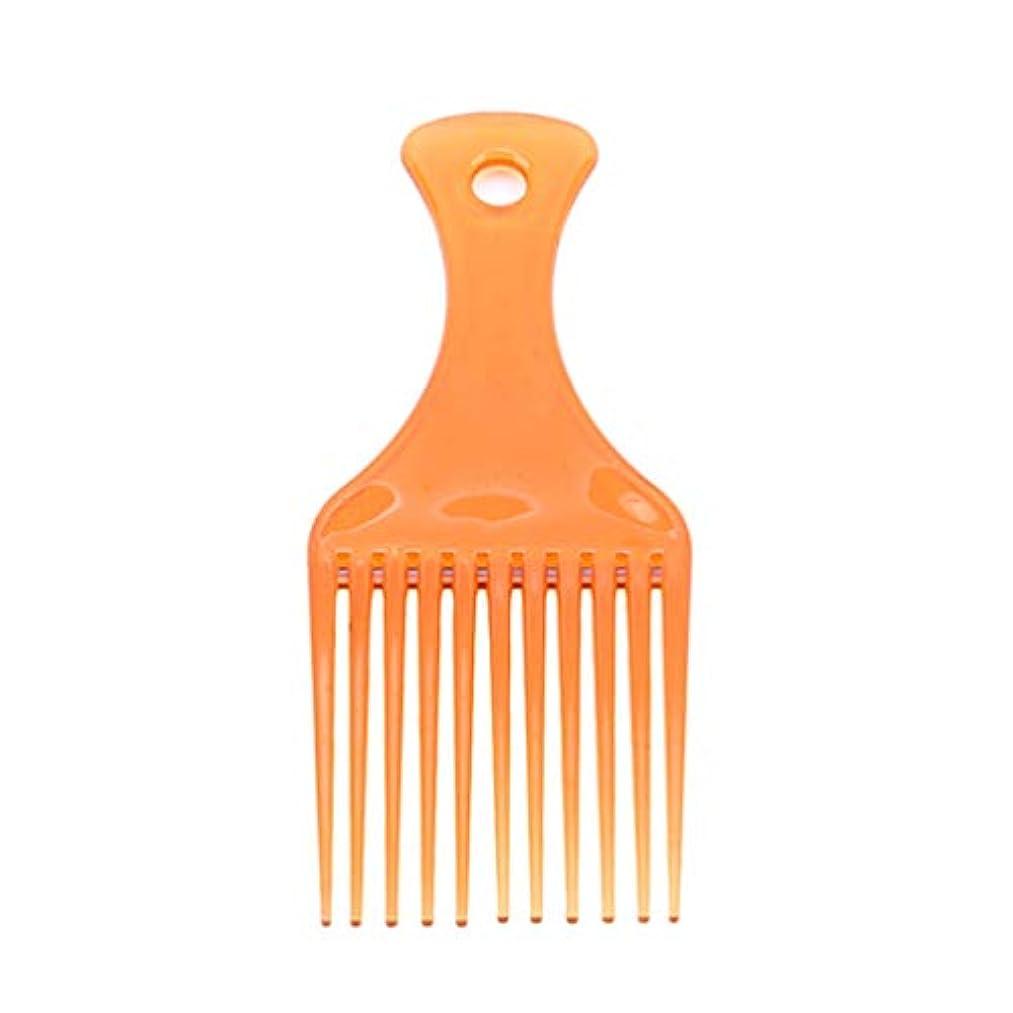 LJSLYJ カーリーヘアスタイリングツールヘアピックコームヘアブラシ用プラスチックハイローコーム、ブラウン