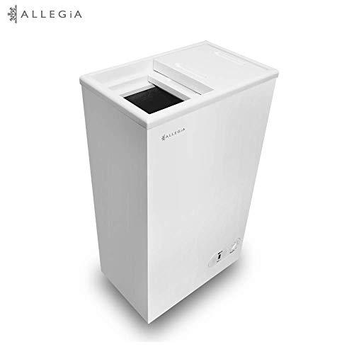 ALLEGiA(アレジア) 小型冷凍庫(41L) 上開き スライドドア 家庭用 AR-BD43-NW