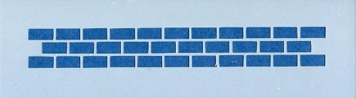 医薬品気怠いナンセンスファインホームのステンシルシート レンガLサイズ fh-073