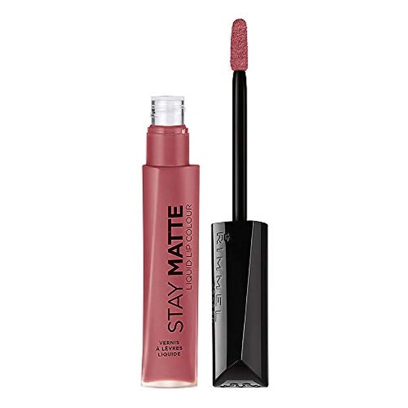 紀元前肯定的苦しむRIMMEL LONDON Stay Matte Liquid Lip Color - Pink Blink (並行輸入品)
