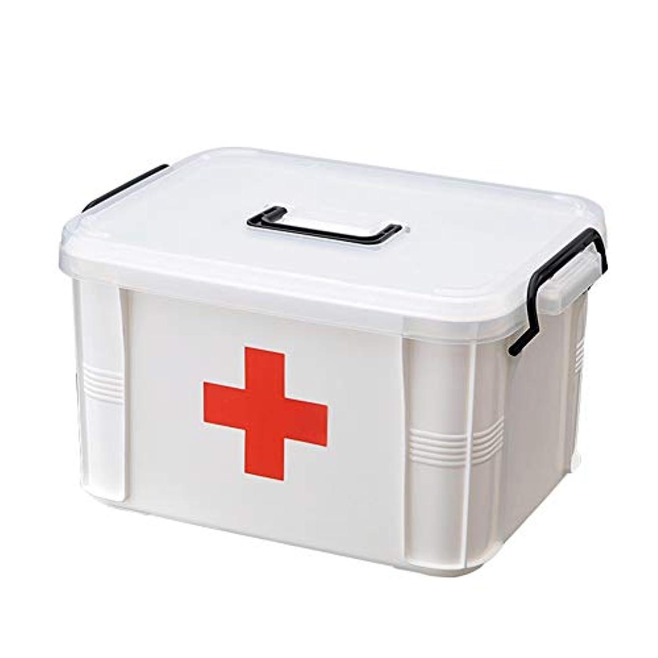 換気する変数エッセイ救急箱 薬箱 収納ケース 応急処置 くすり 3サイズ S/M/L 大容量 赤十字 多機能