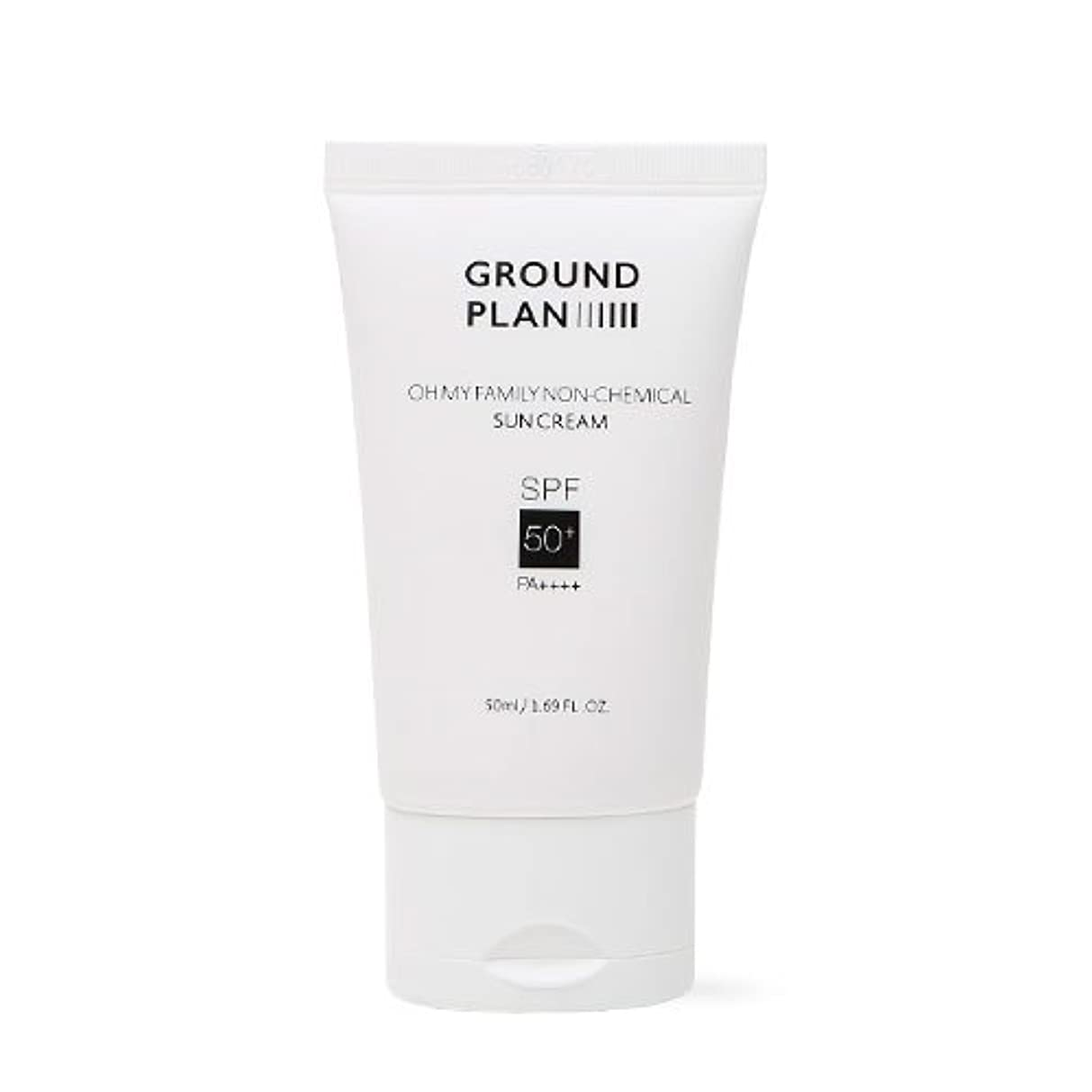 [GROUND PLAN] Oh My Family Non-Chemical Sun Cream 50ml グラウンドプランファミリーノンケミカルサンクリーム [並行輸入品]